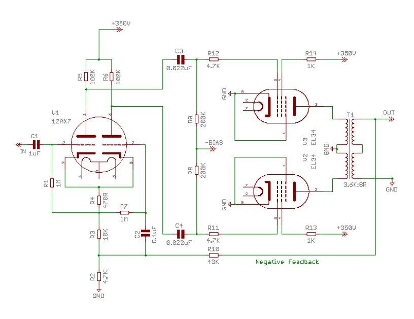 Designing EL34 Push-Pull Amplifier : TWO WAY RADIO