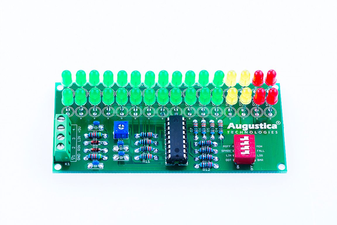 led vu meter The vu meter uses only two integrated circuits a lm3915 and a mc1458 the lm3915 is a dot/bar led - bar graph driver, and the mc1458 is a dual operational amplifier one operational amplifier is used as an ideal rectifier, and the other one is used to produce a reference voltage of 4v.