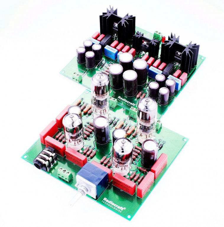 Headphone Amplifier Frigate® Trident® NO Transformers ASSEMBLED - Click Image to Close