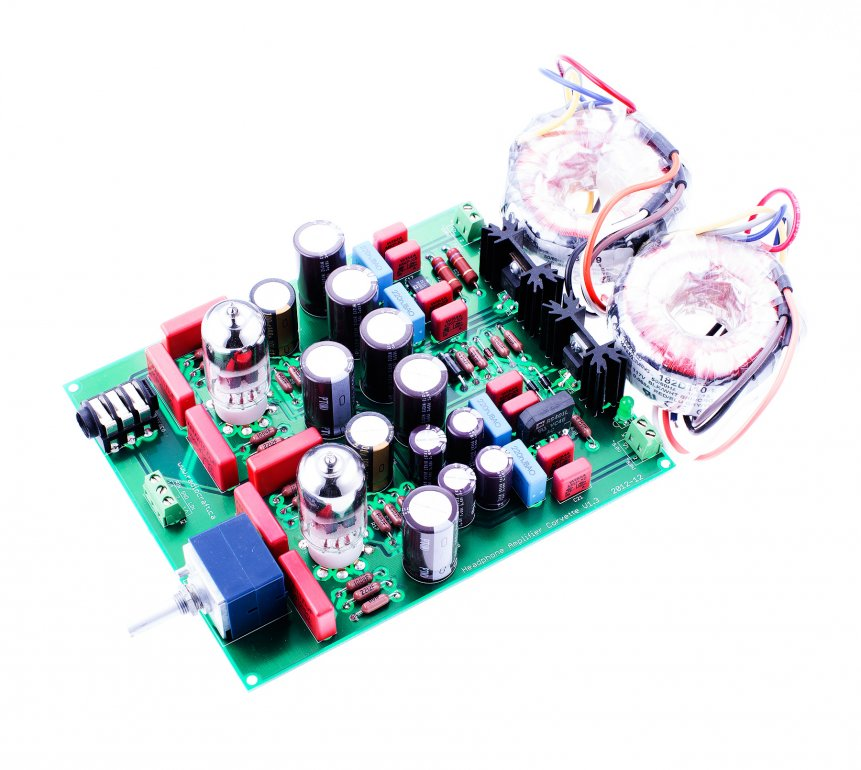 Headphone Amplifier Corvette® AND Transformers ASSEMBLED - Click Image to Close